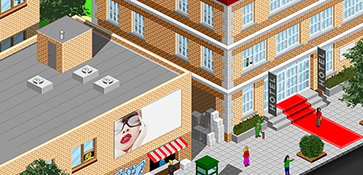 Pixelart retro style visual visualisatie illustratie