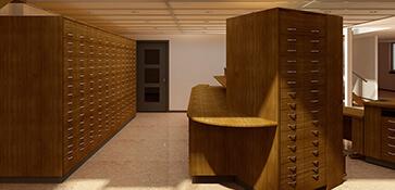 3D visual visualisatie interieur apotheek render
