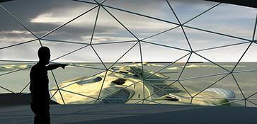 3D visual visualisatie exterieur eiland render