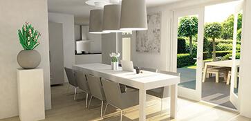 3D visual visualisatie interieur woning woningbouw render