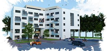 3D visual visualisatie exterieur appartement appartementen appartementencomplex render