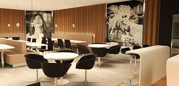 3D visual visualisatie interieur cafe bar loungebar render