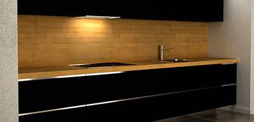 3D visual visualisatie interieur keuken keukens render